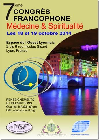 7ème congrès de médecine et spiritualité - Octobre 2014